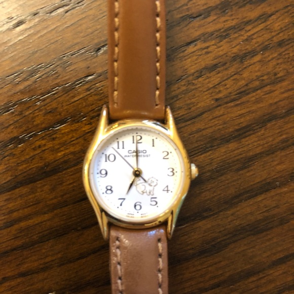 Casio leather watch